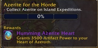 Island Weekly Quest awards reputation with The Honorbound