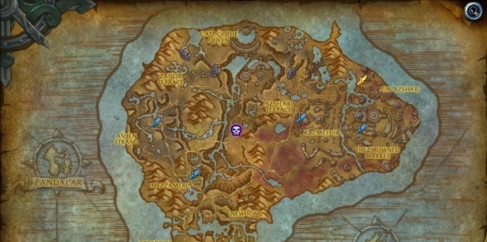 Summons from the depth in map