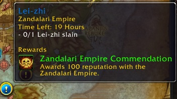 World Quest awarding bonus reputation with Zandalari Empire
