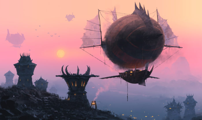 Artwork of Orgrimmar Zeppelins