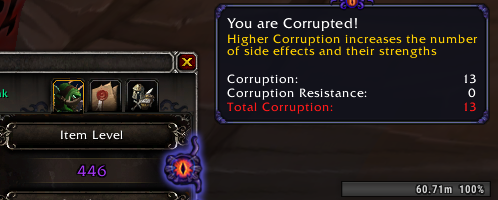 Corruption level