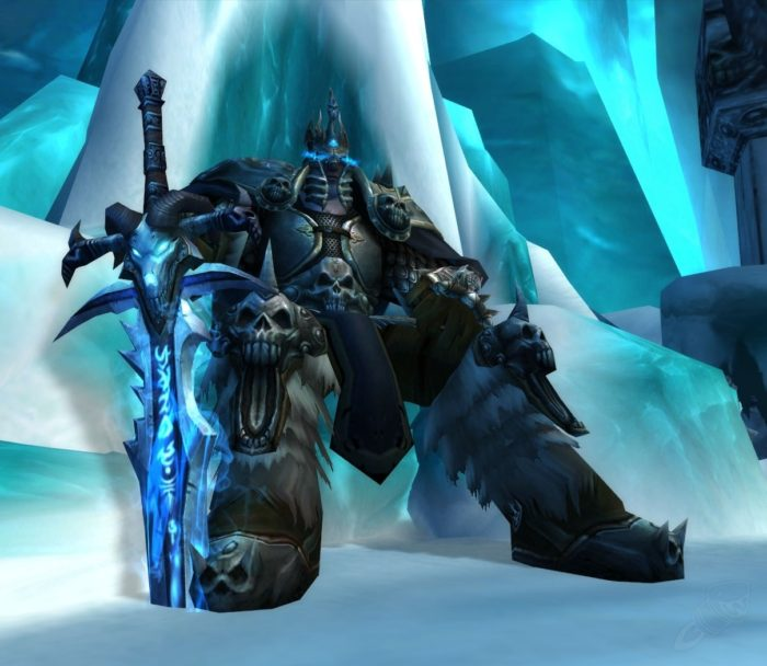Lich king on the Throne.