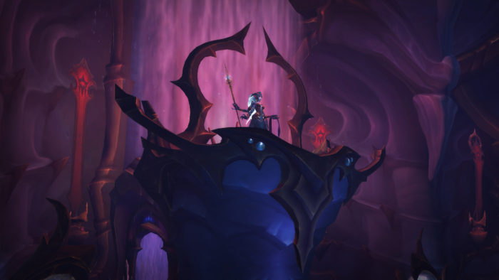 Queen Azshara in the Eternal Palace