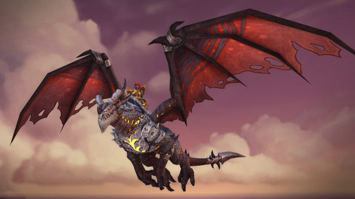 Obsidian Worldbreaker, a mount in WoW Anniversary event