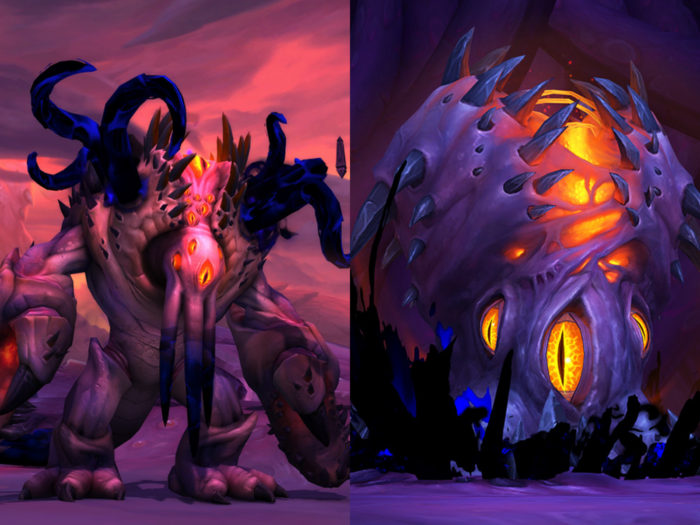 Ny'alotha's last wing - Carpace of N'Zoth and N'Zoth the Corruptor