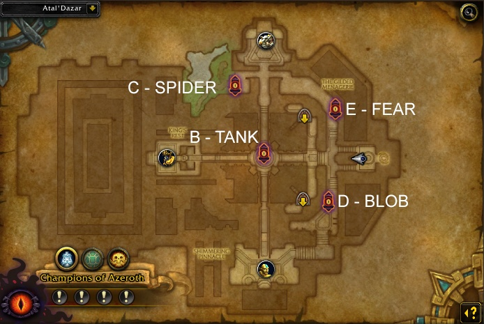 Awakened Obelisks positions