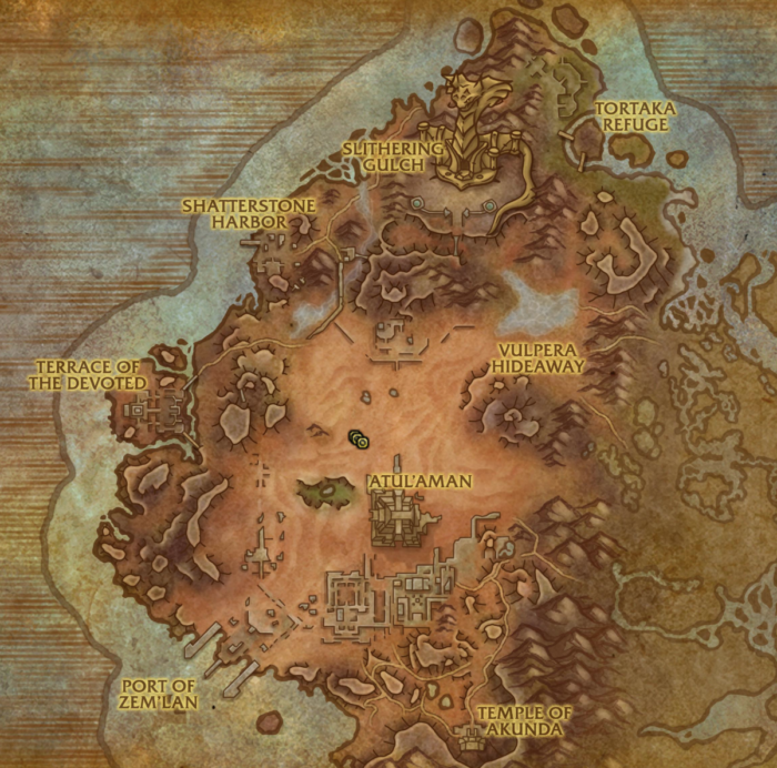 Location of Dunegorger Kraulok in Vol'dun