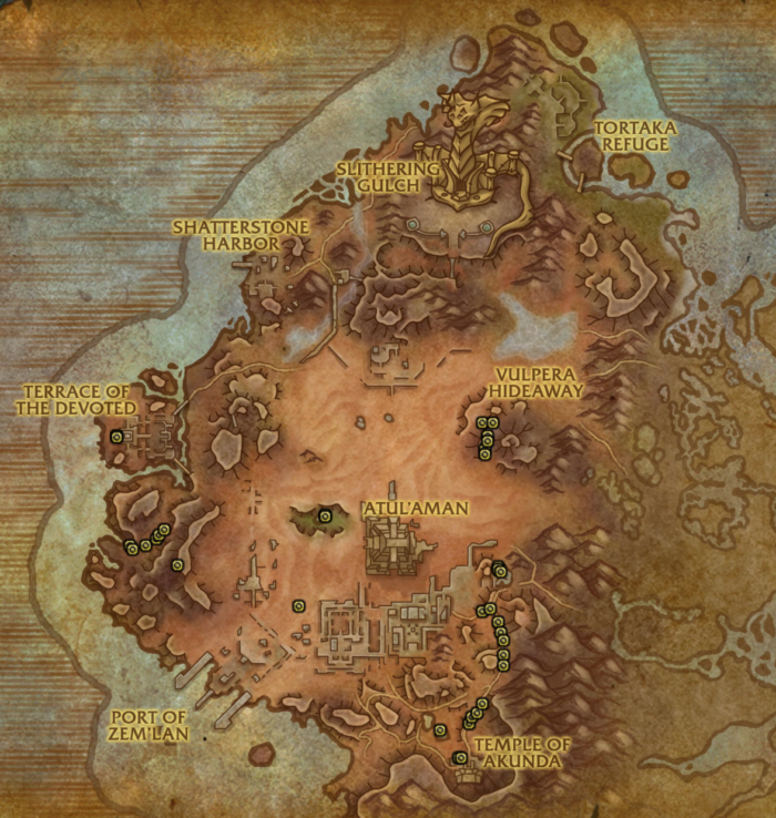 Map of Vol'dun where Elusive Quickhoof roams
