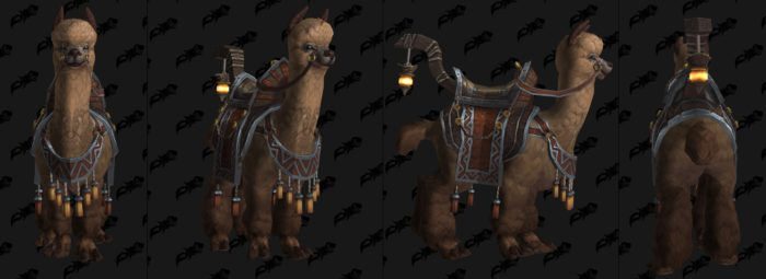 New alpaca mounts added in patch 8.3