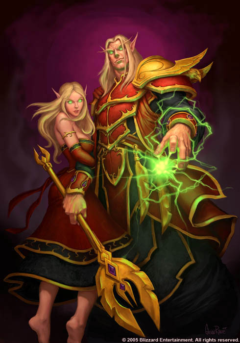 Female and Male Blood Elf world of warcraft lore facts