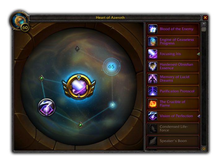Heart of Azeroth Essence systems added in 8.3