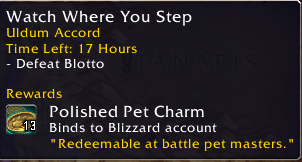 Legendary Battle Pet World Quest