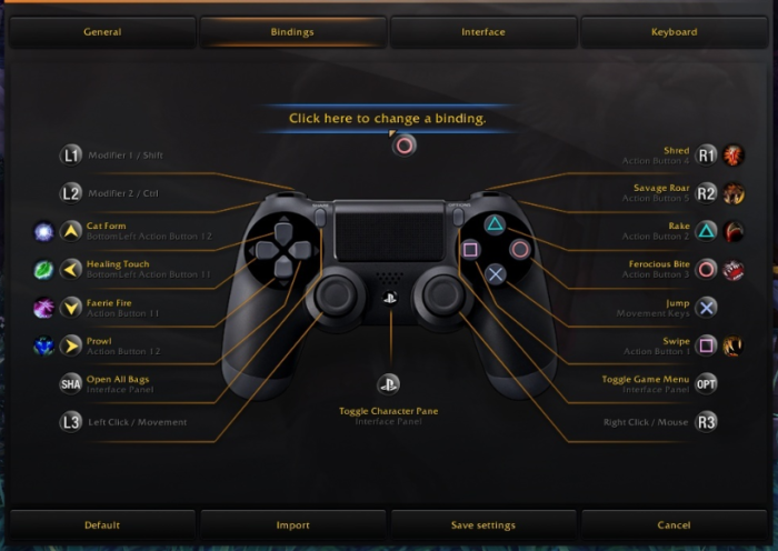 gamepad support in Shadowlands for accessibility issues. A quality of life changes
